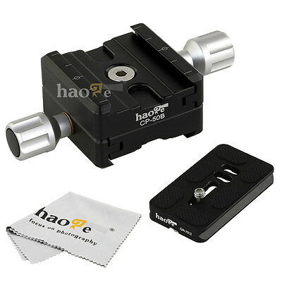 Bidirectional Subtend Double Clamp +70mm Quick Release Plate f Nodal Slide Macro