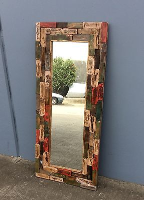 Balinese Recycled Timber Mirror
