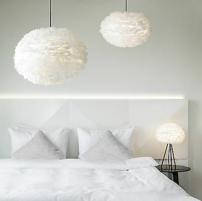 VITA EOS |  Feather pendant light shade | Side lamp  | Floor lamp