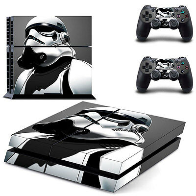 New Star Wars Stormtrooper Skin Sticker For Sony PS4 Console and 2 Controllers
