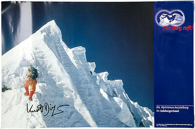 Diemberger Poster: The Hillary Step on Mount Everest.