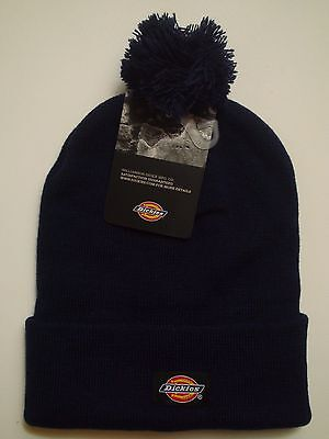 4eea78275f4e7 Dickies Beanie Winter Hat Mens 14 Inch Rolled Cuff Double Layer Skull Cap  Navy