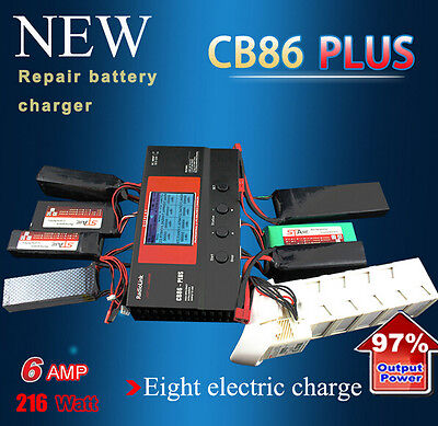 Radiolink CB86 Plus 6A 220W Balance Charger for RC 8 pcs 2-6S Lipo Battery