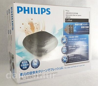 Air Purifier automotive PHILIPS GoPure Compact GPC10 HEPA HESA From Japan +Track