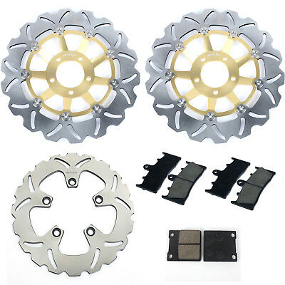 Front Rear Brake Discs Rotors Disks Pads GSF BANDIT 1200 / S 01 02 03 04 05 New