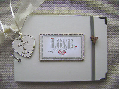 PERSONALISED  LOVE  A5 SIZE.30 pages  PHOTO ALBUM/SCRAPBOOK/MEMORY BOOK
