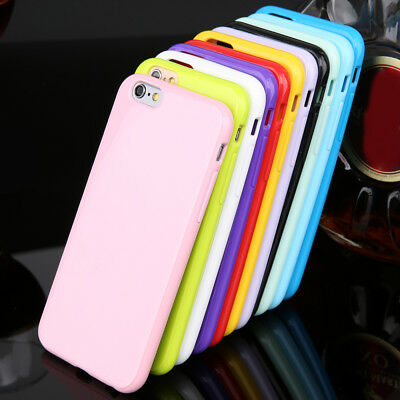 Hot Candy Soft Gel Silicon glossy Phone Case for iPhone 5 6s 7 8 XS Max XR Cover