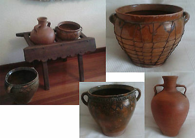 CANTARERA ANTIGUA + 2 CÁNTAROS ANTIGUOS SIGLO XIX - 2 PITCHERS 19th CENTURY