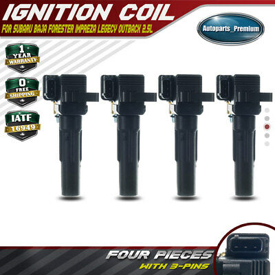 Set of 4pcs Ignition Coils Pack for Subaru Baja Forester Impreza Legecy Outback