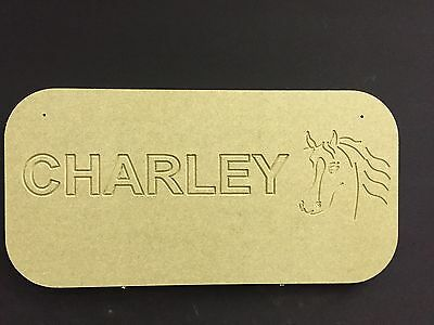 Horse Stable Door Tack Room Personalised Name Plaque Sign