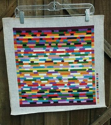 Geometric Striped Needlepoint Bright Colors!