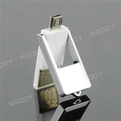 USB 2.0+Micro USB OTG Adapter SD T-Flash Memory Card Reader for Phone PC White