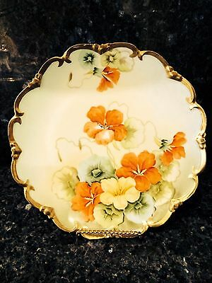 Beautiful Vintage Porcelain Austria Vienna Plate   8 1/2''