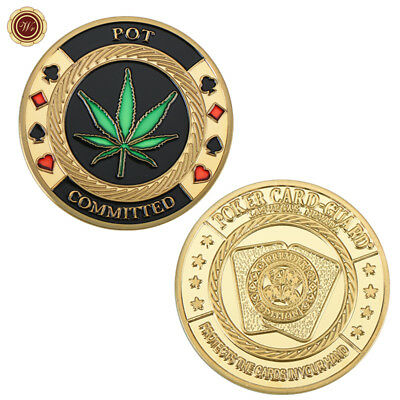 POT Committed Metal Poker Card Protector Coin Casino Lucky Souvenir Free Capsule