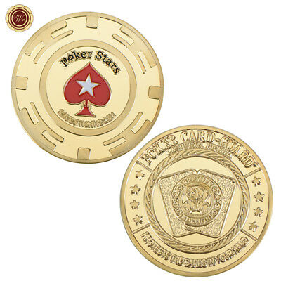 Poker Protector Card Guard - Poker Stars Hearts Design - Metal Casino Token Coin