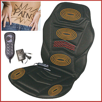 Back Massage Seat Soothing Cushion Heating Vibration 5 Motors Car Home Relaxing