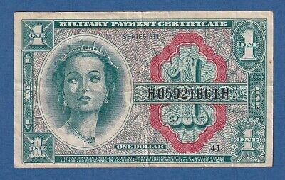 UNITED STATES OF AMERICA -- 1 DOLLAR ND (1964) -- F+ -- SERIES 611 -- PICK M54a