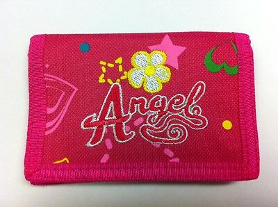 WHOLESALE JOB LOT 12 x GIRLS PINK ANGEL RIPPER WALLET PURSE PARTY BAG FILLER