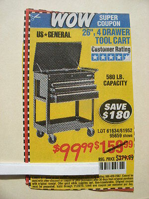 harbor freight coupon 26 4 drawer tool. Black Bedroom Furniture Sets. Home Design Ideas