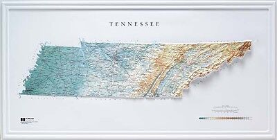 Hubbard AMEP Tennessee Raised Relief Map Raven Style- unframed
