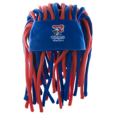 Newcastle Knights NRL Dreadlock Dreadlocks Hat Cap Beanie Game Party Gift