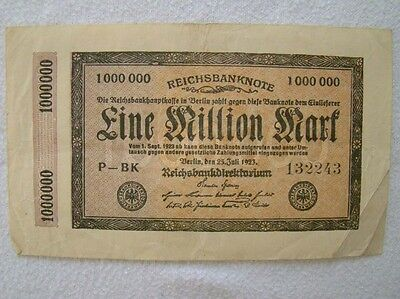 Eine Million Mark - 25. Juli 1923 - selten - Art. 4159
