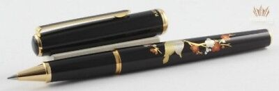 Platinum Slim Maki-E Brush Warbler In The Plum Tree With Gold Roller Ball Pen !!