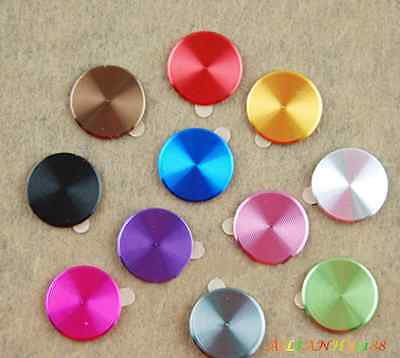 1X New Aluminium Metal Round Home Button Sticker Decal for iPhone 4/4S 5 ipad HY