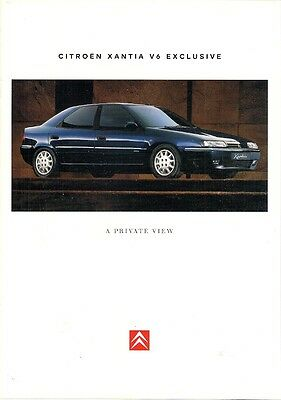 Citroen Xantia 3.0i V6 Exclusive 1997 UK Market Sales Brochure