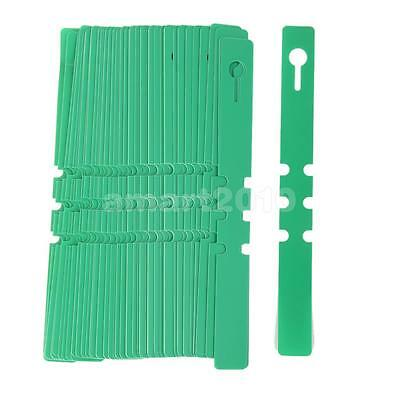 100pcs PVC Durable 2x20cm Plastic Plant Wrap Around Hanging Tags Green