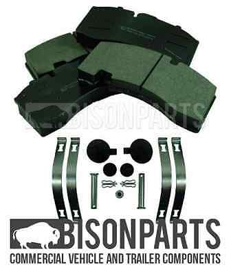 Saf Trailer Axle Front & Rear Brake Pad Set With Fitting Kit 29171 29158