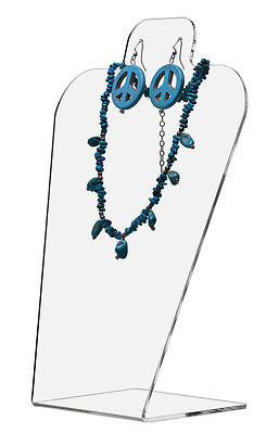 Slantback Acrylic Earring and Necklace Holder Display Stand