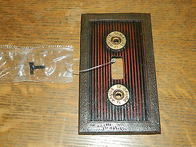 Western Hunting Shotgun Shell Electric Light Switch Wall Plate Cover~New