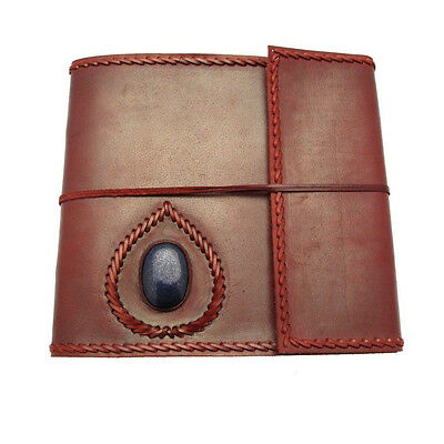 Fair Trade Handmade Stitched Stoned Large Leather Photo Album Scrapbook