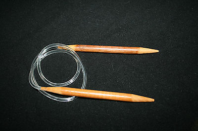 80 cm flexible Cable Natural BAMBOO CIRCULAR KNITTING 14 cm NEEDLES 2 mm -10 mm