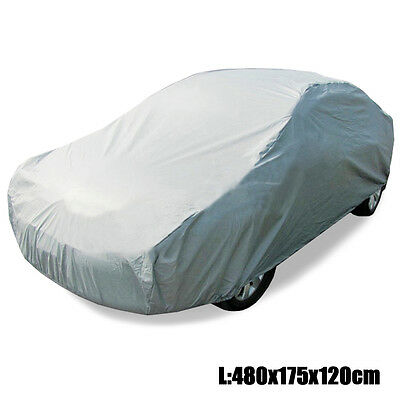 Universal Full Car Cover Size L Anti UV Dust Scratch Dirt Resistant Protection