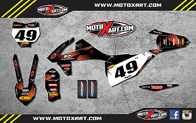 KTM SX SXF  2016 Full Custom Graphic Kit - BARBED STYLE - stickers decals