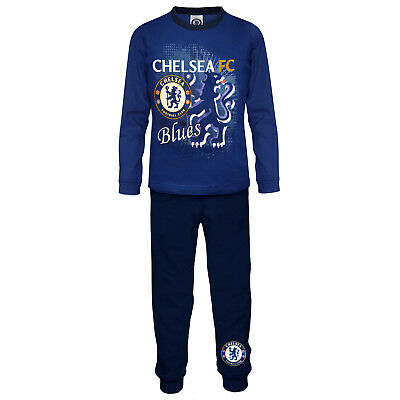 Chelsea FC Official Football Gift Boys Toddler Kids Pyjamas Blue