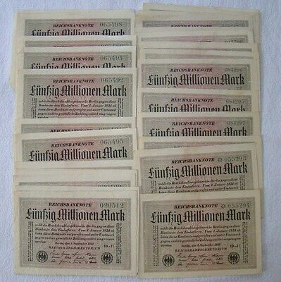 30 Banknoten - 50 Millionen Mark - 1. September 1923 - Art. 4173