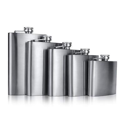 Excellent Quality Hip Flask Brushed Stainless Steel UK Stock Brand New Boxed