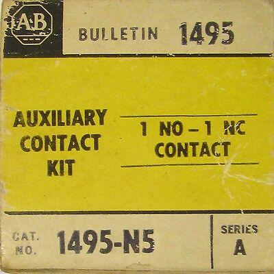 ALLEN BRADLEY 1 NO 1 NC Auxiliary Contact 1495 N5