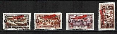 1926 - LIBAN-LEBANON - 4 TIMBRES-NEUFS - REFUGIES - STAMP - SURCHAGE-Yt.PA.17/20