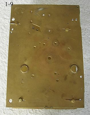 Pair of brass plates for Eighteenth Century eight day long case clock.