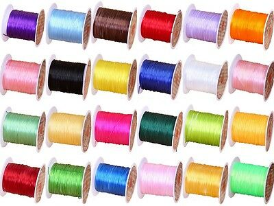 23 Colors 0.5mm Shock Stretchy Elastic Crystal String Cord Thread Jewelry Making