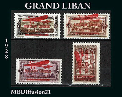 1928 - LIBAN.COLONIES/SERIE - TIMBRES NEUFS** SAUF LE 32 ** - STAMP.Y/t.PA.31/5