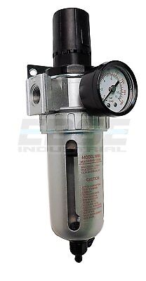 "1/2"" Combo Air Pressure Regulator Water Trap Particulate Filter For Compressor"