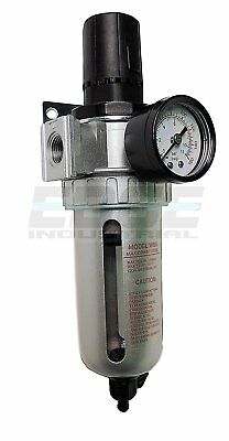"1/2"" Pressure Regulator / Particulate Filter Moisture Water Trap Compressed Air"
