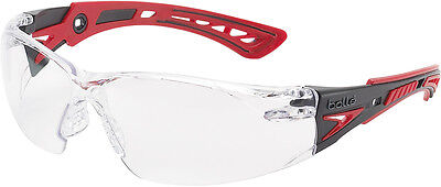 Bolle RUSH+ PLUS Safety Spectacles Glasses Eye Wear Clear Lens - RUSHPPSI