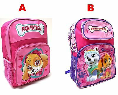 New Kids Large Backpack Bag Girl's Paw Patrol Skye Pink School Toys Christmas V