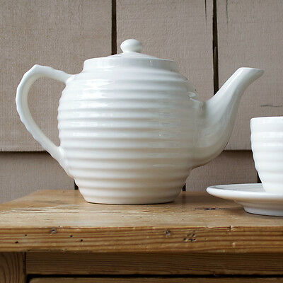 Bauer Pottery Ringware Tea Pot - Soft White